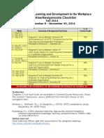dett621 2014 fall schedule