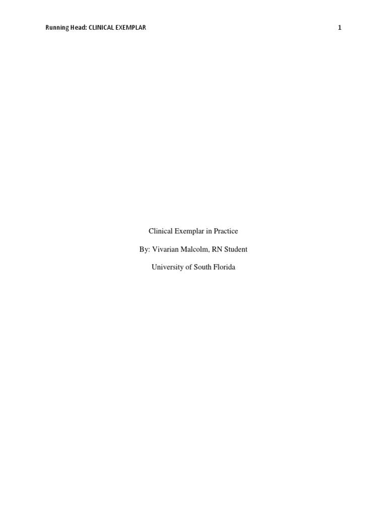 clinical exemplar edited nursing patient