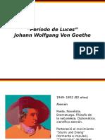 Goethe Y EL ROMANTICISMO