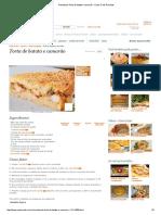 Receita de Torta de Batata e Camarão - Cyber Cook Receitas
