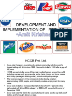 COCA-COLA(Summer Report)-dEVELOPMENT & IMPLEMENTATION OF PRE-SELL.-Amit krishna