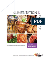 Eating and Exercise Dzzaruring Ramadan - English and French