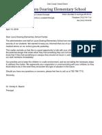 Dearing ES Parent Letter 4-13-16