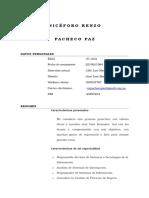 Curriculum Renzo Pacheco Paz