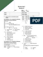 Review Unit 1_Version A