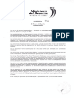 Acuerdo Ministerial Liga Los Elenes