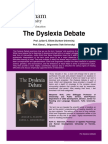The Dyslexia Debate Publisher Summary