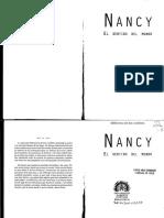 Nancy, Jean-luc - El Sentido Del Mundo