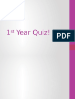 1st year quiz
