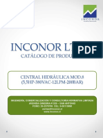 INCONOR LTDA Central Hidráulica Mod.8 (5,5hp 380vac 12lpm 200bar)