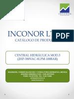 INCONOR LTDA Central Hidráulica Mod.3 (2hp 380vac 8lpm 100bar)