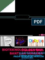 Pembuatan insulin dengan Bantuan Mikroorganisme