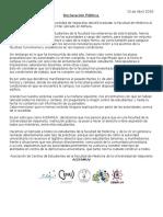 Declaración Pública ACEFAMUV