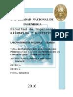 DETERMINACIÓN DEL ANGULO DE PÉRDIDAS Y EL FACTOR DE PÉRDIDAS DE UN CONDENSADOR