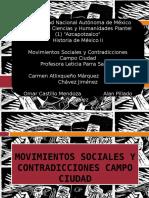 Movimientos Sociales y Contradicciones Campo Ciudad