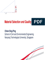 Material Selection & Quality Assurance