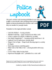police lapbook and printables