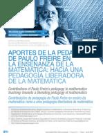 Freire y la Enseñanza de la Matemática
