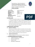 Programa Analíticio Sistemas Operativos II