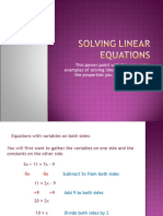 Solving Linear Equations 1