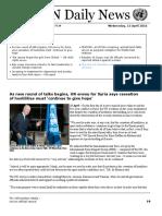 UN Daily News - 13 April 2016