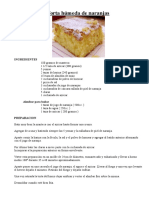 Torta Humeda de Naranjas