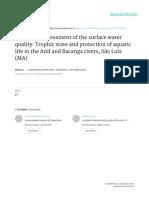 Avaliação Integrada Da Qualidade de Águas Superficiais - Grau de Trofia e Proteção Da Vida Aquática Nos Rios Anil e Bacanga