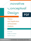 Innovative Conceptual Design - Theory and Application of Parameter Analysis (Cambridge University Press, 2004)