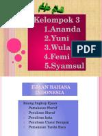 Ppt Ejaan Bahasa Indonesia