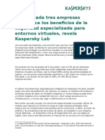 Kaspersky Lab on Specialized Security for Virtual Environments SP