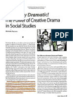 decidedly drama the power of creative drama in social studies