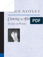 (Poets on Poetry) Notley, Alice-Coming After _ Essays on Poetry-University of Michigan Press (2005)