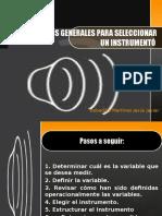 Criterios Generales Para Seleccionar Un Instrumentó