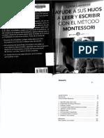 Leer y Escribir Metodo Montessori