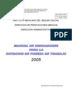 INDICADORES DE DOTACIÓN DE FUERZA DE TRABAJO EN UNIDADES DE ATENCIÓN MÉDICA EN MÉXICO.