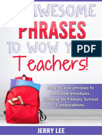 80 Awesome Phrases to Wow Your Teachers Limited Time Offer on Courses
