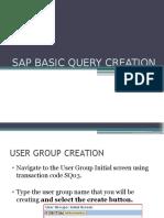 Sap Basic Query Creation