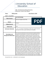 reflective lesson plan-3 science