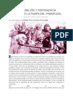 Ritos de Rebelión y Pertenencia Cultural en La Pampa Del Tamarugal