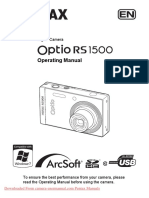 Manual Pentax Optio RS1500