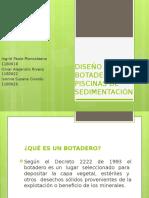 Diseño de Botaderos y Piscinas de Sedimentación Presentación