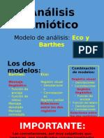 Análisis Eco y Barthes