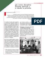 (a) La Pedagogía Como Disciplina