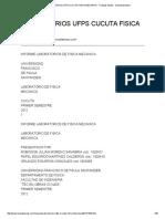 Laboratorios Ufps Cucuta Fisica Mecanica - Trabajos Finales - Dannielamedina