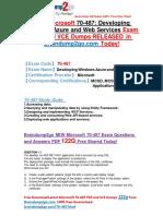 New Microsoft 70-487 Dumps PDF 122Q&as Share