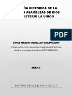 Reseña Historica de La Iglesia Ministerio La Unión