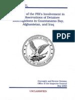 US Justice Department Report on Guantanamo Turtures