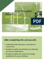 Unit 7 Biofuels