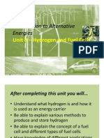 Unit 8-Hydrogen and Fuel Cells