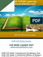 HUM 130 TUTOR Learn by Doing-hum130tutor.com